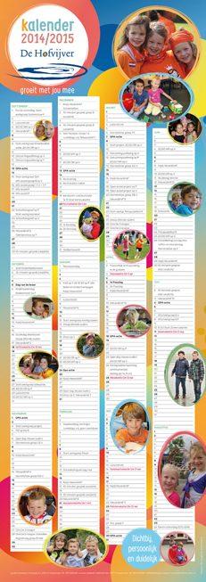 Ontwerp schoolkalender