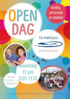 flyer poster open dag basisschool hofvijver zoetermeer