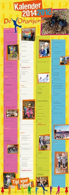basisschool, ontwerp, kalender, schoolkalender, zoetermeer, grafisch ontwerp, Yfke Vreugdenhil, vormgeving