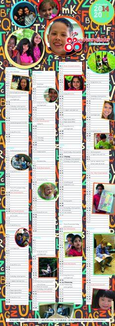 Ontwerp schoolkalender Totaalschool de Vuurvlinder